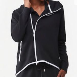 Nike Hoodie - White w/Black Piping